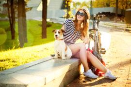 hund cykling